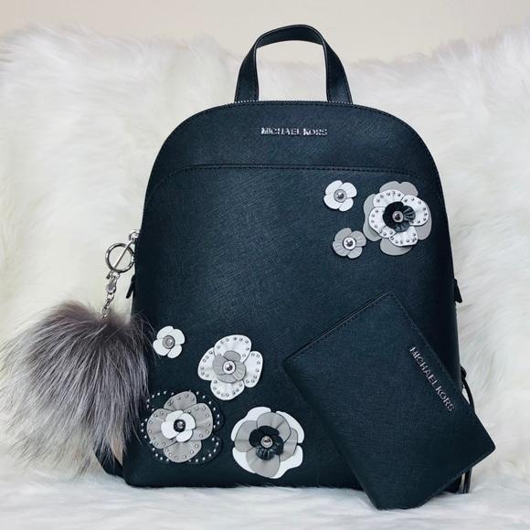 e3ff25f61a98 Michael Kors Bags | 3pcs Emmy Floral Backpack Wallet Set | Poshmark